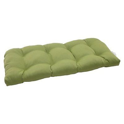 Pillow Perfect Indoor/Outdoor Forsyth Wicker Loveseat Cushion, Green
