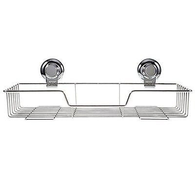 Ultra-adhering Dual Vacuum Suction Cups Stainless Steel Rectangular Caddy