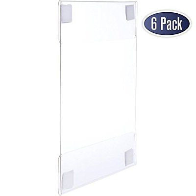Acrylic Sign Holder with Velcro Adhesive, 8.5 x 11 inches