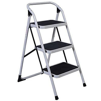 Giantex Hd 3 Step Ladder Platform Lightweight Folding Stool 330 Lb Cap
