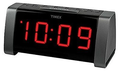 Timex T235B AM/FM Dual Alarm Clock Radio with Jumbo Display and Line-In Jack