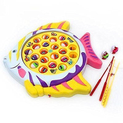Electronic Funny Go Fishing Game Toy Board Set for Boys Girls Fish Shape Board