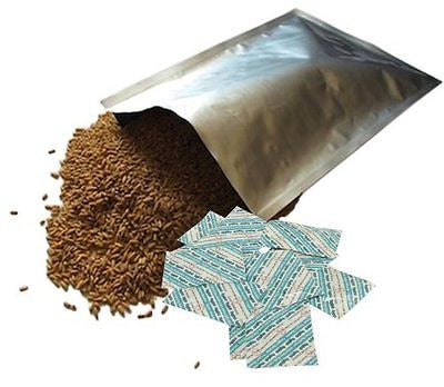 10 Dry-Packs 5 Gallon Mylar Bags and 10-2000cc Oxy-Sorb Oxygen Absorbers