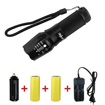 Super Bright CREE XML T6 LED Portable Zoom Tactical Flashlight