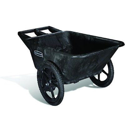 Rubbermaid Commercial FG564200BLA HDPE Big-Wheel Dump Truck 300-pound Capacity