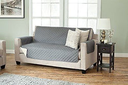 Deluxe Reversible Quilted Furniture Protector. Two Fresh Looks in One