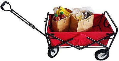SECO Heavy Duty Folding Utility Wagon Wheelbarrow Garden Cart Sports Cart