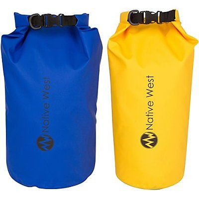 Dry Bag (2 Pack) With Shoulder Strap. Waterproof Floating Dry Gear Bags