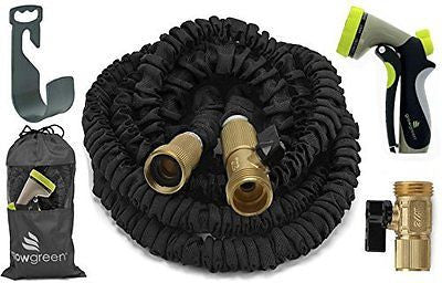 Garden Hose Water Coil Collapsible Shrinking Hoses Solid Brass Fittings