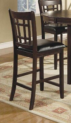 "Coaster Leather-Look 2-Piece Pub Chair 24"" height Cappuccino/Black"