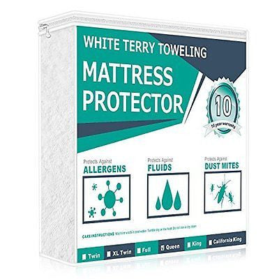 Queen Size  Waterproof Mattress Protector 100% Cotton Terry Surface with Cover