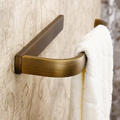 Leyden Retro Bathroom Accessories Solid Brass Antique Brass Finished Towel Ring