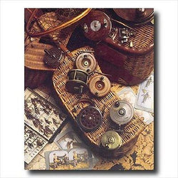 Old Fly Fishing Rod And Antique Reels Lures Cabin Wall Picture Art Print