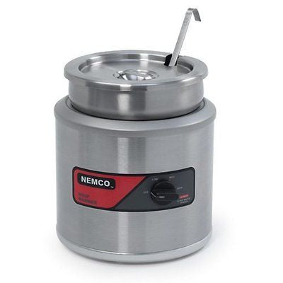 Nemco (6100A-ICL) 7 qt Round Warmer w/ Inset