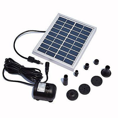 Kingda 2W Solar Fountain Pump Waterfall for Pool Garden Pond Bird Bath