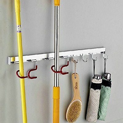 Organizer Tool Storage-Multi Function Mops Brooms or  4 Positions Hooks