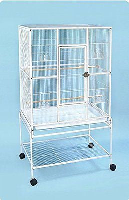 "Everila PCFT32 New Bird Parrot Large Cage 32""x20""x53"" 3/8"" Bar Spacing Cockatiel"