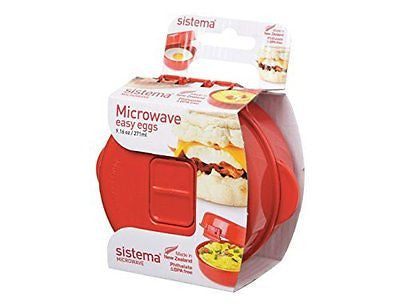 1117 Easy Eggs Microwave Cookware Red