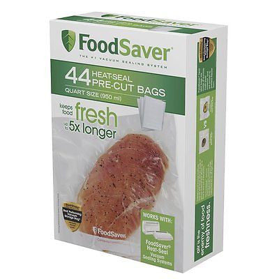 FoodSaver Kitchen Vacuum Food Storage Containers 44 Quart-sized Bags