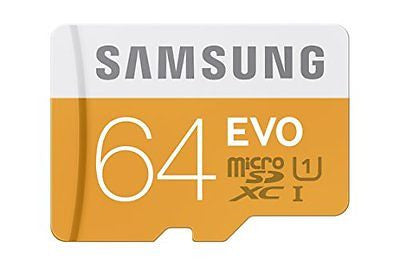 Samsung 64GB EVO Class 10 Micro SDXC Card with Adapter up to 48/MB/s