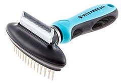 2-in-1 Deshedding Comb and Undercoat Rake. Best Pet Grooming Tool/Brush for Dogs