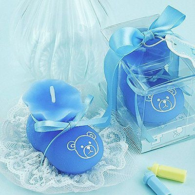 Baby Boy/girl Shoe Smokeless Candle Cake Topper Baby Shower Favors Giveaway