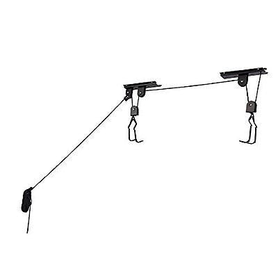 RAD Cycle Products Heavy Duty Bike Lift Hoist For Garage Storage 100lb Capacity