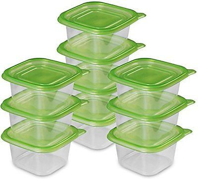 Food Storage Container - (950ml/32oz) - Green (20-Piece) - BPA Free -