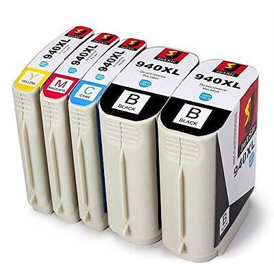 1 Set+1BK HIgh Yield for HP Ink Cartridges 940 Compatible Hp Pro 8000 8500