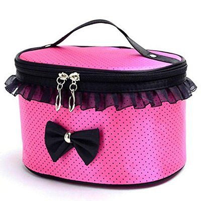 DZT1968? Handle Large Cosmetic Bag Travel Makeup Organizer Case Holder