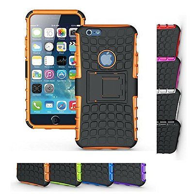 iPhone 6s Case, HLCT Rugged Shock Proof Dual-Layer Case with Built-In Kickstand