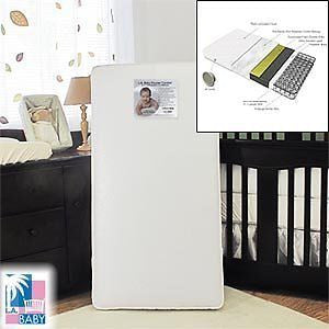 2-in-1 Orthopedic Crib Mattress Infant to Toddler Compatible with Cotton Layer