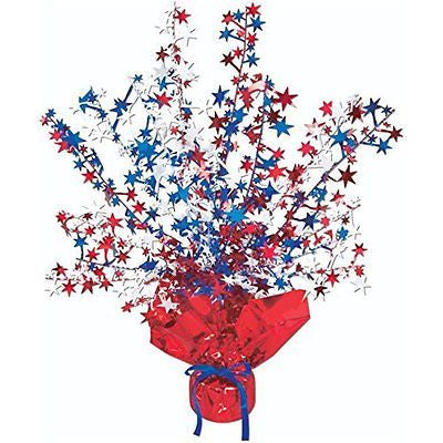Star Gleam 'N Burst Centerpiece (red white blue) Party Accessory  (1 count)