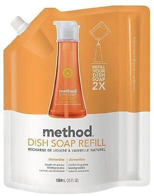 Method Dish Soap Pump Refill, Clementine - 36 oz