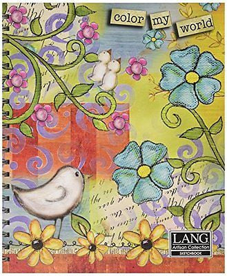 Artisan Color My World Spiral Bound Sketchbook by Lisa Kaus, 10 x 11.25 Inches