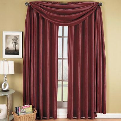Elegance Solid Rod Pocket Window Treatment- Panels, Valances and Scarves
