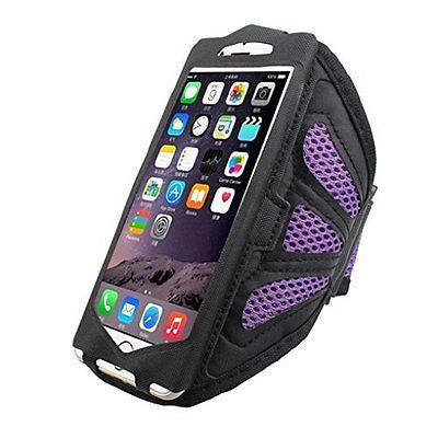 Tenworld Sports Gym Armband Arm Band Case Cover for iPhone 6S 4.7Inch (Purple)