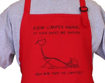 Campfire Funny Design Apron With Pouch Pockets, One Size