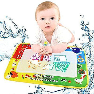 GOTD 4Color Water Drawing Mat Board &Magic Pen Doodle Kids Toy Gift 46X30cm