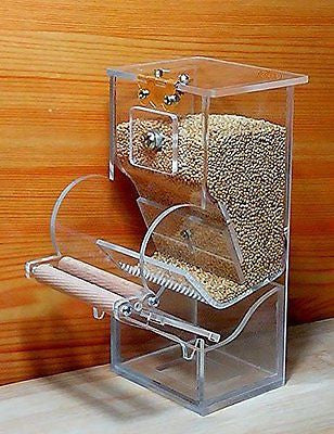 Bird Cage Auto Seed Feeder for Love Birds , Budgies