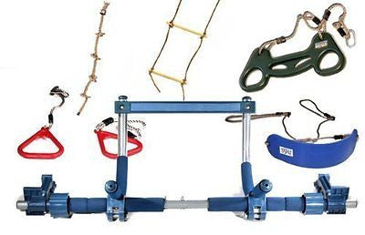 Gorilla Gym Kids Deluxe with Indoor Swing, Plastic Rings, Trapeze Bar, Climbing