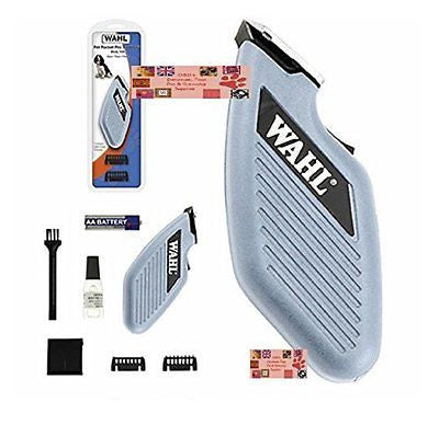 WAHL Cordless Pocket Pro Pet Dog Trimmer/Clipper&Blade,Guide Combs,Battery*QUIET