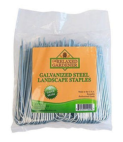 100 Galvanized Steel Landscape Staples By The Relaxed Gardener, Heavy Duty Pro
