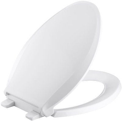 KOHLER K-4636-0 Cachet Quiet-Close with Grip-Tight Bumpers Elongated Toilet