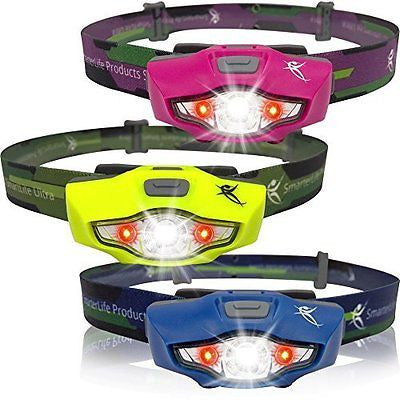 LED Headlamp 100 lumens 1 AA Battery Only 1.5 oz Top Rated Running Headlamp
