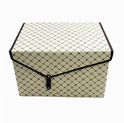 Storage Box Foldable Non-woven Fabric Flip Top Lidded Large