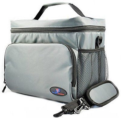 Extra Large Insulated Lunch Bag Made of Double-Sewn Nylon