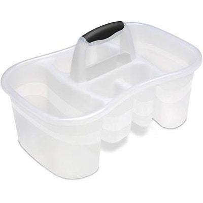 Sterilite Bath Caddy- Clear, Case of 6