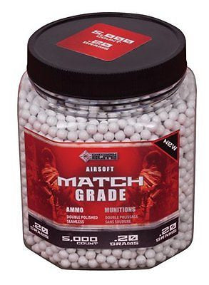 Crosman AirSoft 5000 ct. Bottle White Heavy AirSoft BBs (.20 grams)