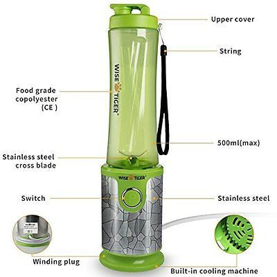 200Watt High-Speed portable Mixer with Travel Food Grade Bottle Cup